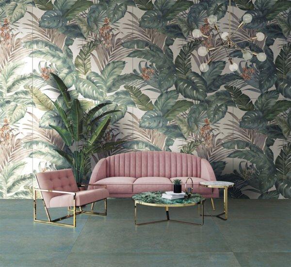 Płytka dekoracyjna Serenissima Showall W09 Jungle NAT. RTT 120x120 cm