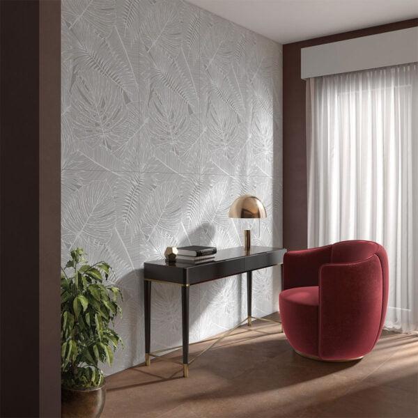 Płytka dekoracyjna Serenissima Showall W03 Myfair White NAT. RTT 60x120 cm
