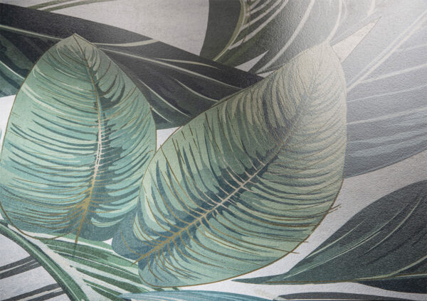 Płytka dekoracyjna Serenissima Showall W07 White Leaf NAT. RTT 120x120 cm