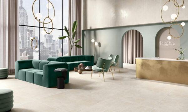 Gres imitujący beton Century Fusion Ivory