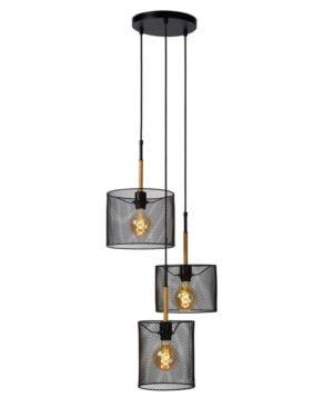 Lucide lampa wisząca Baskett 3xE27