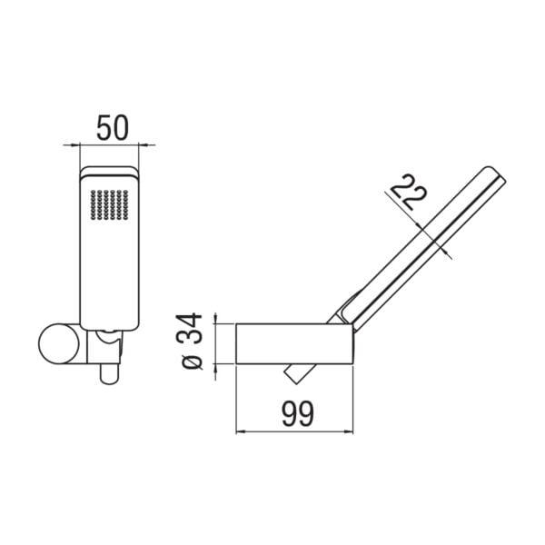 Nobili Acquaviva zestaw prysznicowy AD146/25CR