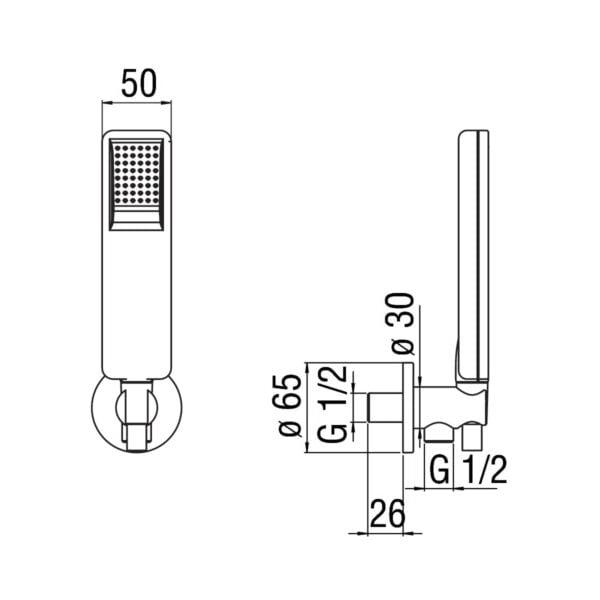 Nobili Acquaviva zestaw prysznicowy AD146/49CR