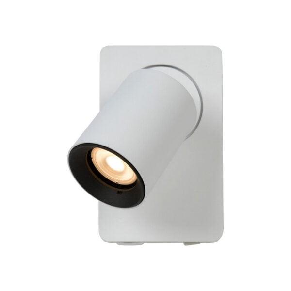 Lucide lampa ścienna z ładowarką USB Nigel 09929-06-31