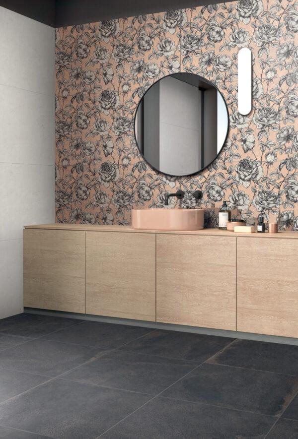 Tapeta ceramiczna ścienna ABK Wide&Style Mini Roses Rtt. 60x120 cm
