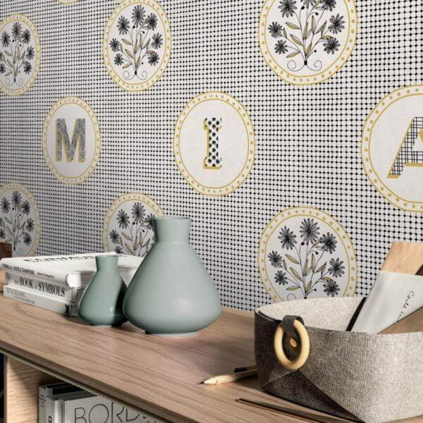 Tapeta Ceramiczna ABK Wide & Style Pop Mama Non Mama Oro Rtt. 60x120 cm