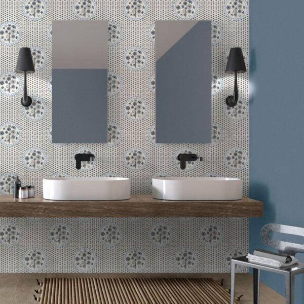 Tapeta Ceramiczna ABK Wide & Style Quel Mazzolin Di Fiori Avio Rtt. 60x120 cm