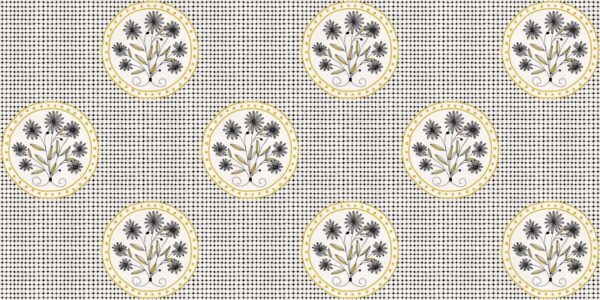Tapeta Ceramiczna ABK Wide & Style Pop Mama Non Mama Senape Rtt. 60x120 cm
