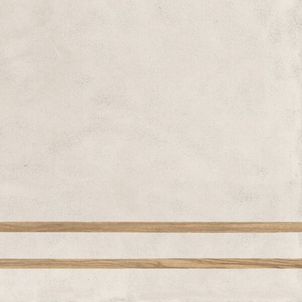 Płytka dekoracyjna Fioranese Sfrido 2Lines Cemento1 Bianco Nat. Rtt. 60x60 cm .