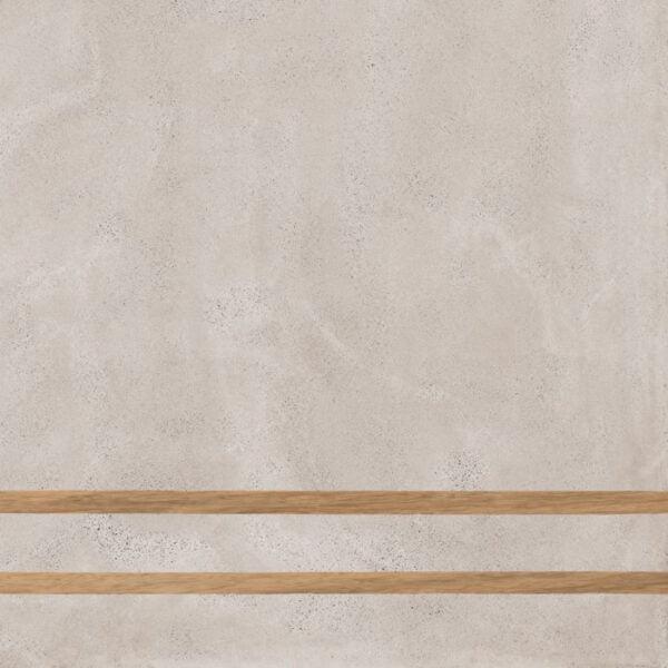 Płytka dekoracyjna Fioranese Sfrido 2Lines Cemento2 Greige Nat. Rtt. 60x60 cm .