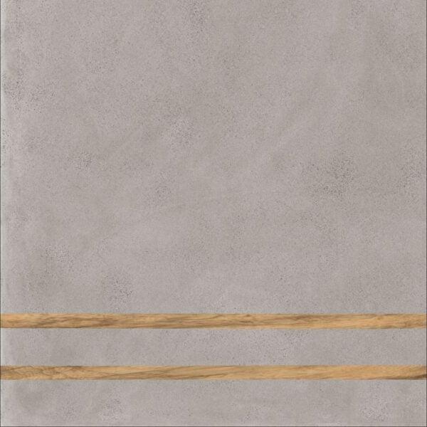 Płytka dekoracyjna Fioranese Sfrido 2Lines Cemento3 Grigio Nat. Rtt. 60x60 cm .