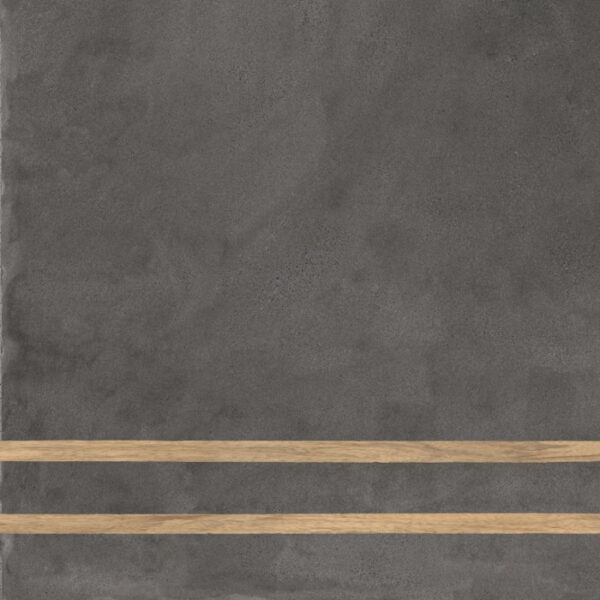 Płytka dekoracyjna Fioranese Sfrido 2Lines Cemento4 Nero Nat. Rtt. 60x60 cm .