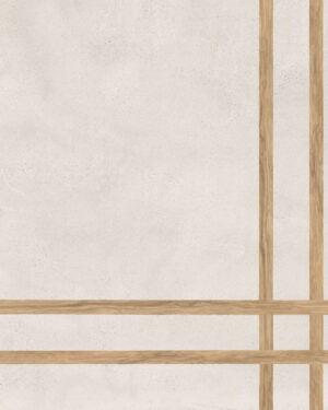 Płytka dekoracyjna Fioranese Sfrido 4Lines Cemento1 Bianco Nat. Rtt. 60x60 cm.