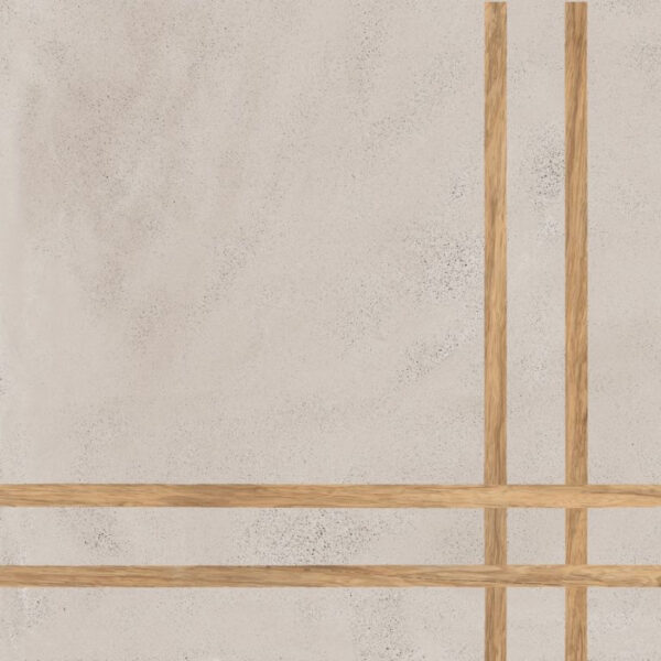 Płytka dekoracyjna Fioranese Sfrido 4Lines Cemento2 Greige Nat. Rtt. 60x60 cm .
