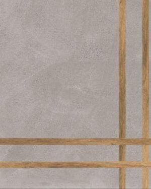 Płytka dekoracyjna Fioranese Sfrido 4Lines Cemento3 Grigio Nat. Rtt. 60x60 cm .