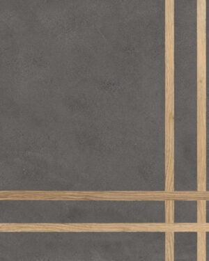 Płytka dekoracyjna Fioranese Sfrido 4Lines Cemento4 Nero Nat. Rtt. 60x60 cm .