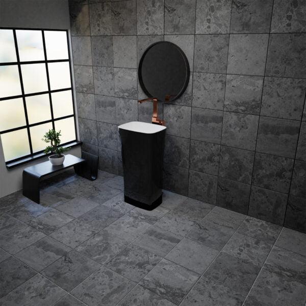 Vayer umywalka wolnostojąca Volans-czarno-biała