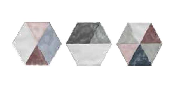 Płytka dekoracyjna Cir Materia Prima Inserto Rainbow Mix esagona