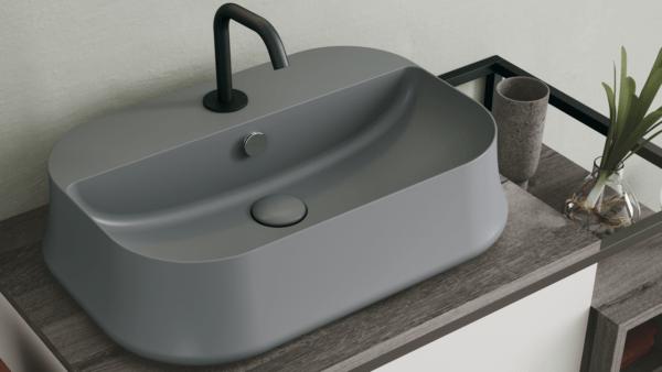 Simas Sharp umywalka nablatowa SH09 Cemento Matt