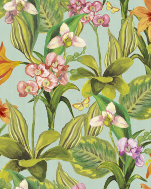 Tapeta Decoprint Breeze BR24080 Malowane Kwiaty Orchidee