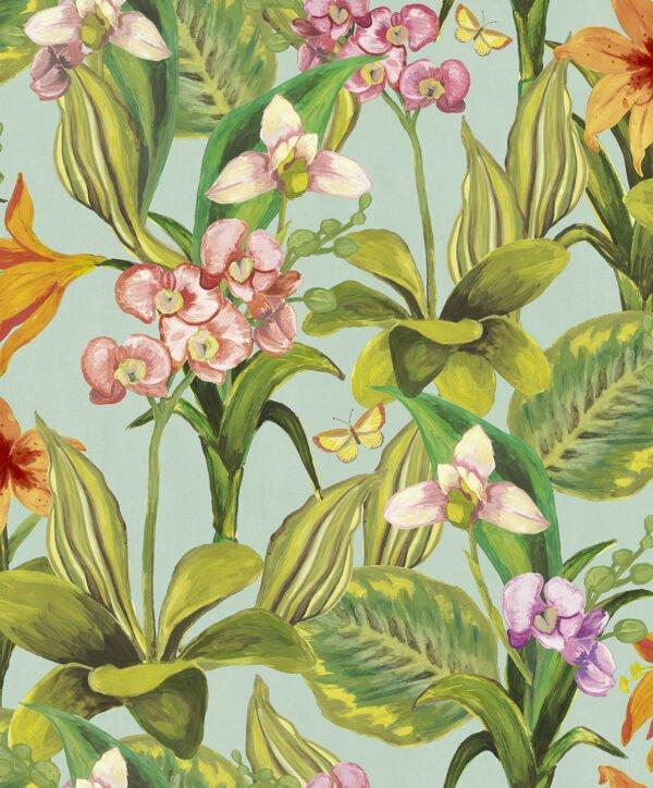 Tapeta Decoprint Breeze BR24080 Malowane Kwiaty Orchidee