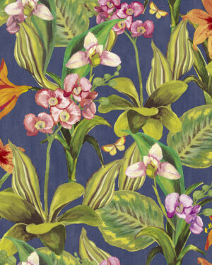 Tapeta Decoprint Breeze BR24081 Malowane Kwiaty Orchidee