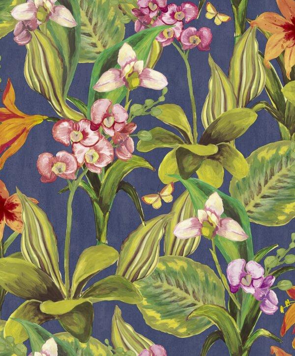 Tapeta Decoprint Breeze BR24081 Malowane Kwiaty Orchidee