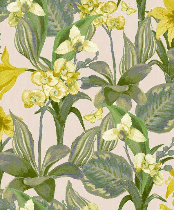 Tapeta Decoprint Breeze BR24082 Malowane Kwiaty Orchidee