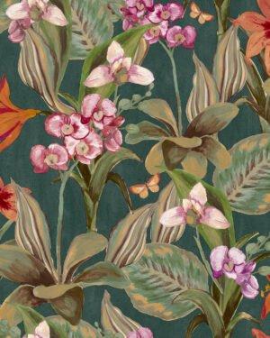 Tapeta Decoprint Breeze BR24083 Malowane Kwiaty Orchidee