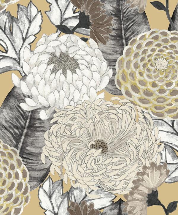 Tapeta Decoprint Breeze BR24031 Malowane Kwiaty Astry