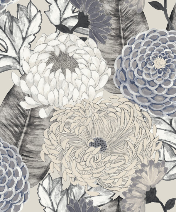 Tapeta Decoprint Breeze BR24032 Malowane Kwiaty Astry