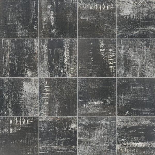 Płytka dekoracyjna Kerion Artwood Black 20x20 cm