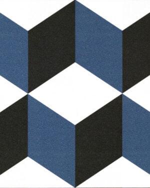 Płytka dekoracyjna Kerion Neocim Plus Decor Cubique Bleu 20x20 cm