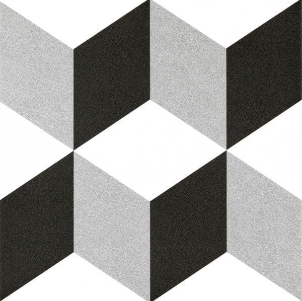 Płytka dekoracyjna Kerion Neocim Plus Decor Cubique Titane 20x20 cm