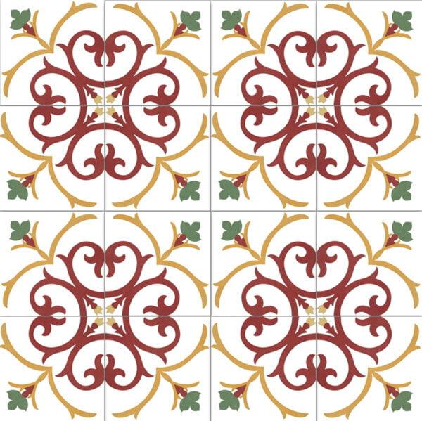 Płytka dekoracyjna Kerion Neocim Classic Decoro Branche 20x20 cm