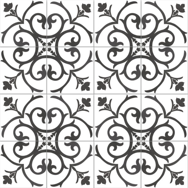Płytka dekoracyjna Kerion Neocim Classic Decor A Noir 20x20 cm