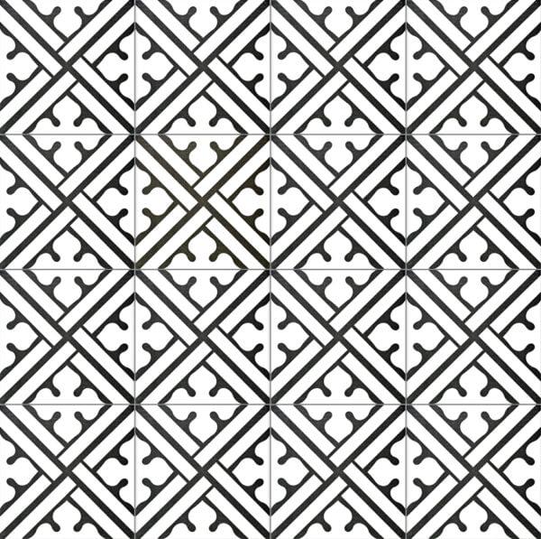 Płytka dekoracyjna Kerion Neocim Classic Decor B Noir 20x20 cm