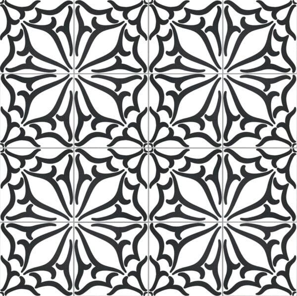 Płytka dekoracyjna Kerion Neocim Classic Decor C Noir 20x20 cm