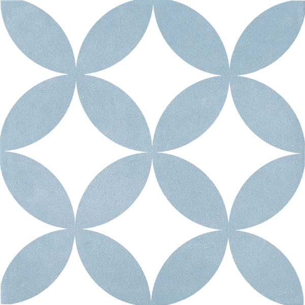 Płytka dekoracyjna Kerion Neocim Classic Decor Fleur Ciel 20x20 cm