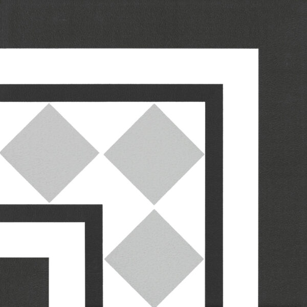 Płytka dekoracyjna Kerion Neocim Classic Canto Optique Titane 20x20 cm