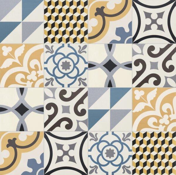 Płytka dekoracyjna Kerion Neocim Plus Patchwork Bleu Caramel 20x20 cm