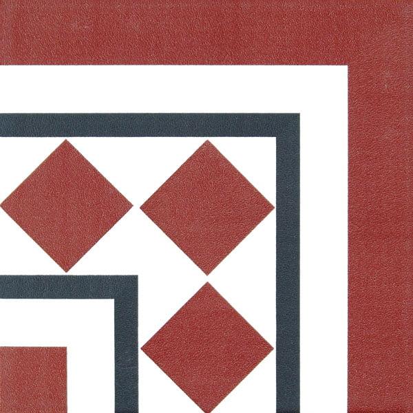 Płytka dekoracyjna Kerion Neocim Classic Canto Optique Framboise 20x20 cm