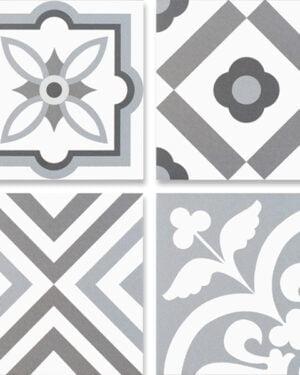 Płytka dekoracyjna Kerion Neocim Plus Patchwork Gris / Plomb 20x20 cm