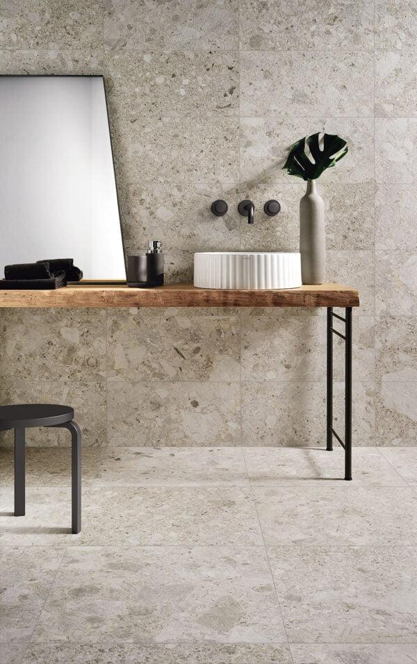 Płytka imitująca kamień Fioranese Frammenta Bianco Lucido Rtt.
