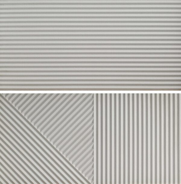 Płytka ścienna Fioranese Fio. Passepartout Grigio #2 Nat. Rtt. 30,2x60,4 cm