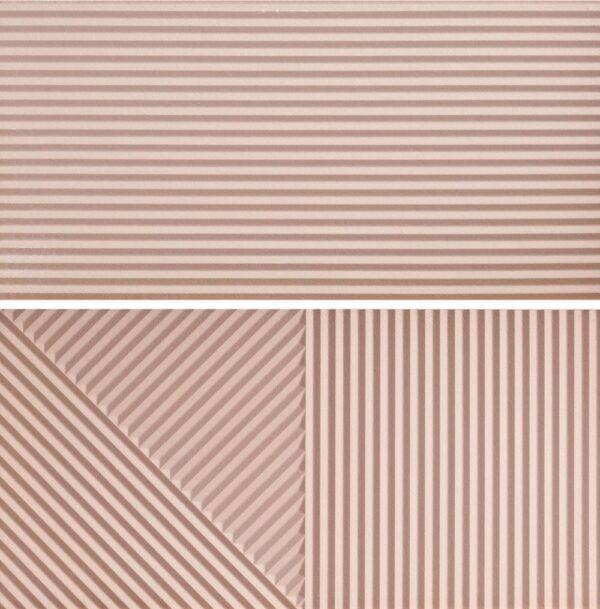 Płytka ścienna Fioranese Fio. Passepartout Millennial Pink #2 Nat. Rtt. 30,2x60,4 cm